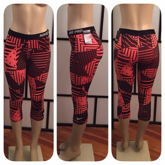 Nike - Nike Pro Coral/Black Capri Workout Pants from ! ✨ tanya ...