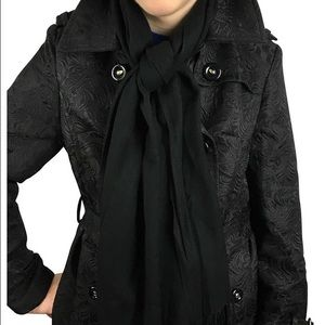 Lil+Lo Accessories - Lil+Lo Basic Black Pashmina Style Scarf / Wrap