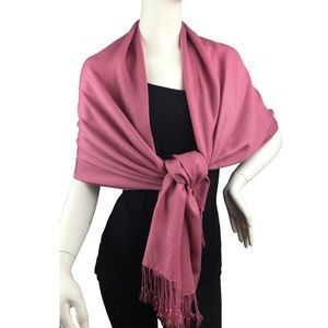 Lil+Lo Accessories - Pink Pashmina Style Scarf from Lil+Lo Collection