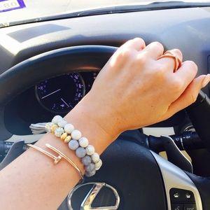 Rose gold nail wrapped bracelet