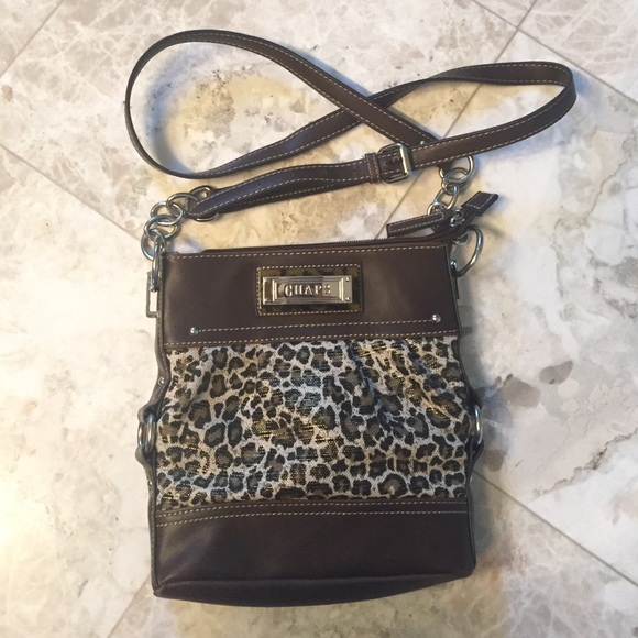 Chaps Handbags - Chaps leopard print cross body bag c206350b86d86