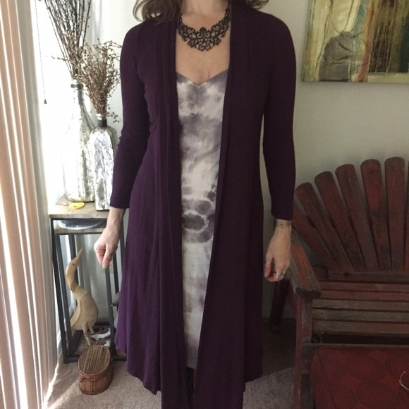 36% off Sweaters - Long DusTer open CARDIGAN SZ S/M purple sWeaTeR ...