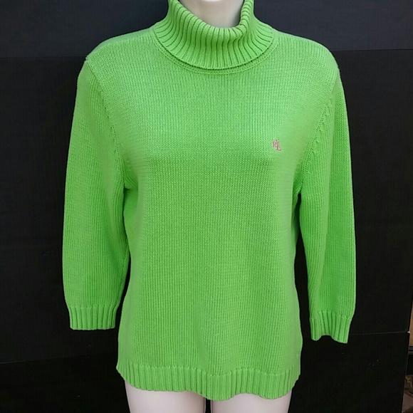 92% off Ralph Lauren Sweaters - Lauren Ralph Lauren Lime Green ...