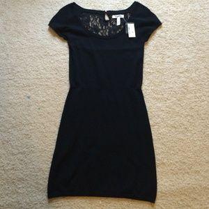 Mini dress lace back