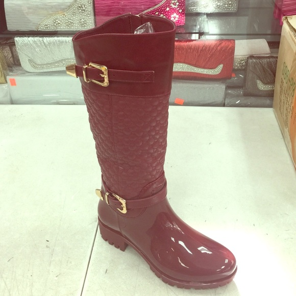 Women s quilted design rain boots. 0ee7759a9e