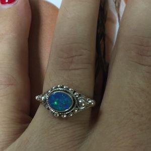 Jewelry - Australian fire opal in sterling silver ring