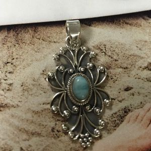 Jewelry - Larimar and 925 sterling silver pendant