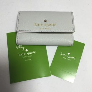 KATE SPADE GRAY BUSINESS CARD CASE