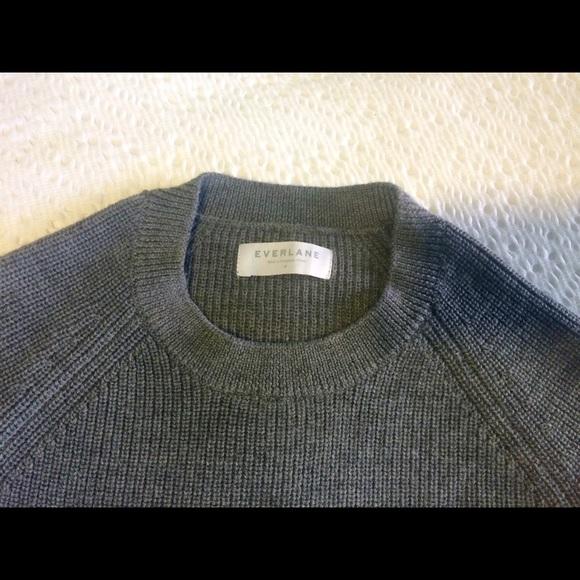 b75fa31eec8509 Everlane Sweaters - EVERLANE Chunky Knit Boyfriend Crew - M grey
