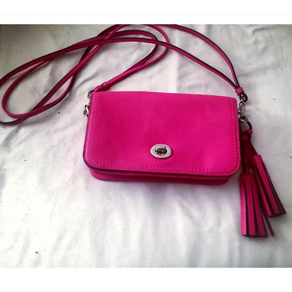 64% off Coach Handbags - Hot pink Coach Legacy Leather Penny ...