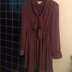 Long sleeve flowy dress