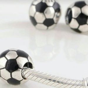 Jewelry - Sterling Silver Charm Soccer Ball for Bracelet 925