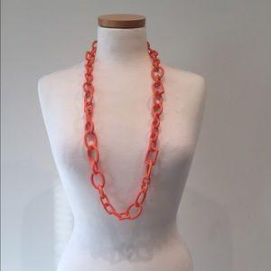 J. Crew Coral Link Necklace