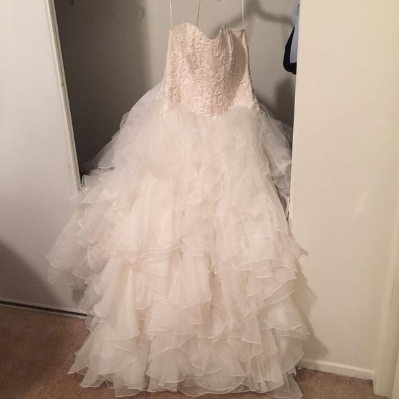 Oleg Cassini Wedding Dresses Ruffles