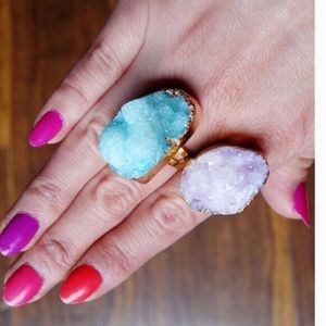 T&J Designs Jewelry - t&j Designs Gold Dipped purple Druzy Ring