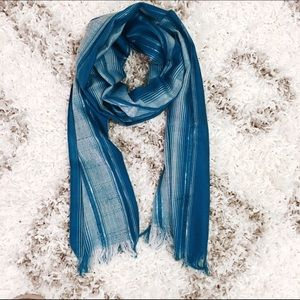 Accessories - Peruvian Aqua Blue Scarf Wrap Pashmina