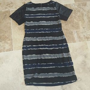 Cut25 by Yigal Azrouel Dresses & Skirts - Leather and Stripes dress by Designer Cut 25