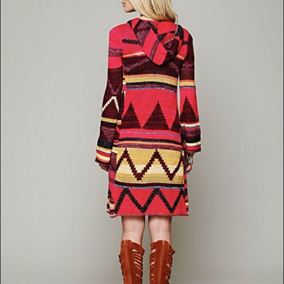 58% off Free People Sweaters - Free People Aztec Cardigan Duster ...