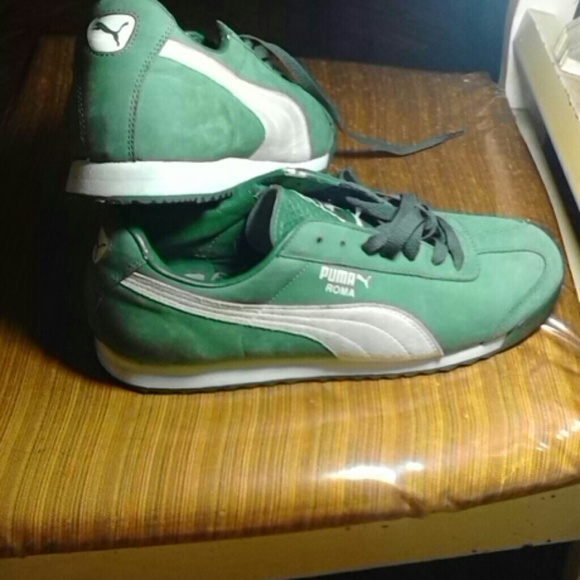 quality design 9bfc9 feba9 Puma Roma Kelly Green suede sneakers