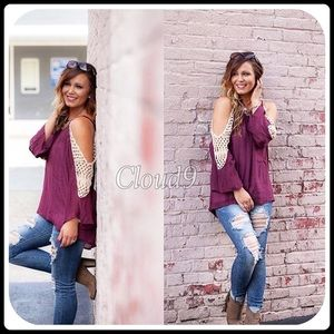 Cloud 9 Tops - 🆕Merlot Infinity Lace Top
