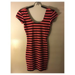 Charlotte Russe Striped Bodycon Dress