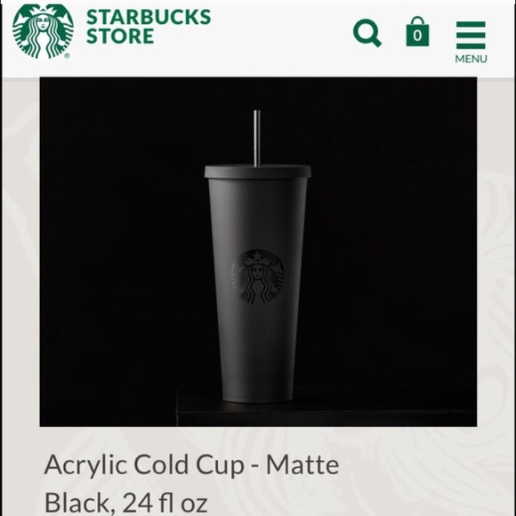 Starbucks Black Acrylic Limitededition Cold Cup Boutique