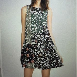Zara flared printed dress