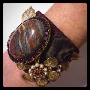 Gorgeous stone embellished cuff bracelet.