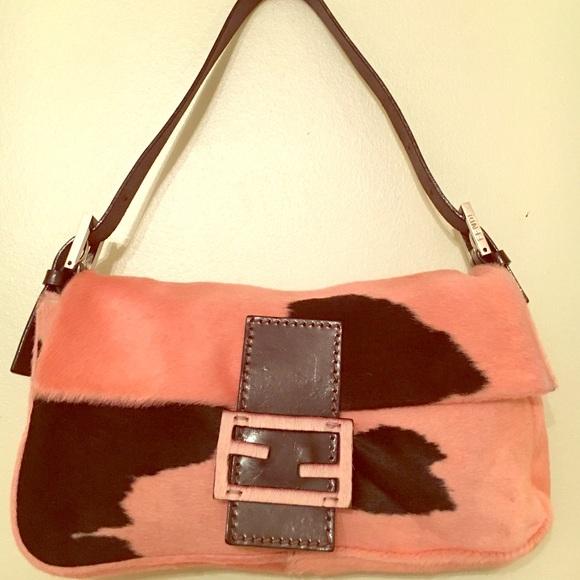 10bf09ad84 FENDI Handbags - 💯Authentic LN- FENDI PINK BLK pony hair hobo