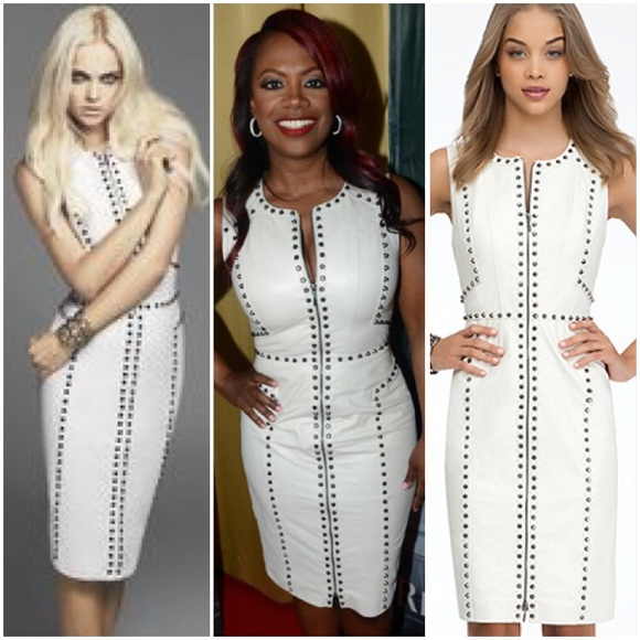 Long White Leather Dresses