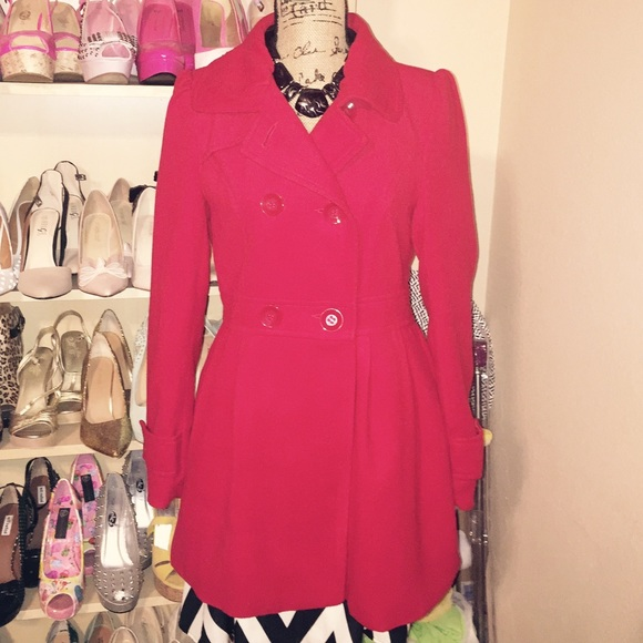 Forever 21 Jackets & Coats - NWOT Red Peplum Coat