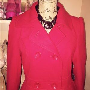 Forever 21 Jackets & Coats - NWOT Red Peplum Coat