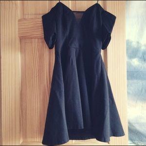 Guess off-the-shoulder plunge dress