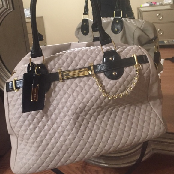 Steve Madden Bags Weekender Quilted Tan Travel Bag Poshmark