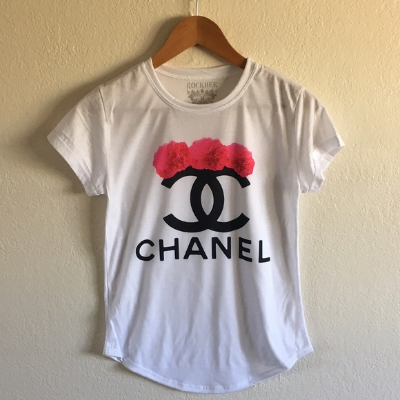 57 Off Chanel Tops Chanel Pink Flowers Tshirt From
