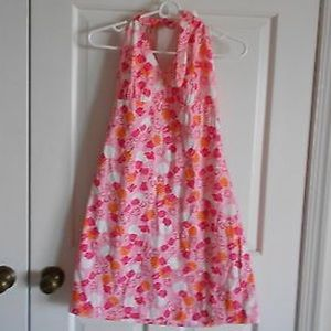 Lilly Pulitzer Pink/Orange Ladybug Halter Dress