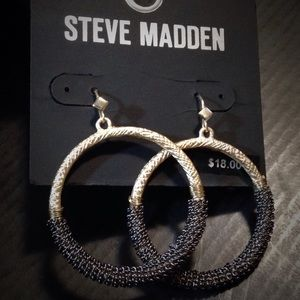 Steve Madden Mixed Metal Hoops NWT