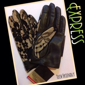Express Accessories - 🆕Express Leather & Lace Gloves