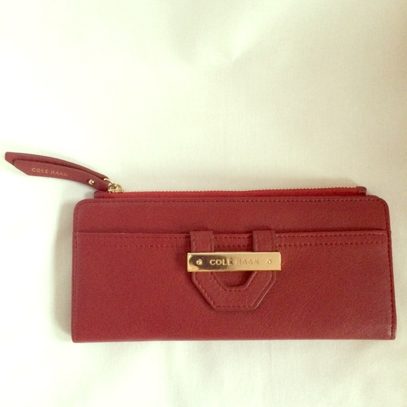 8e7878025c Cole Haan Bags | Red Leather Wallet | Poshmark
