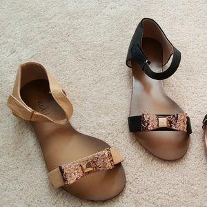 Tan  bow sandals