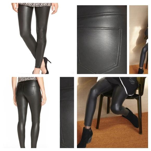 028bd298e1d09 HUE Pants | Faux Leather Leggings Treggings Black S New | Poshmark
