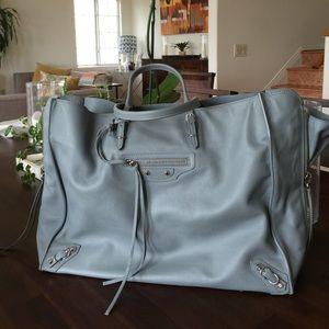 50% off Yves Saint Laurent Handbags - YSL black satin tote with ...