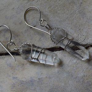 Handmade Crystal Quartz Earrings