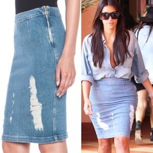 Frame Denim Dresses & Skirts - Seen on KimK & Beyoncé - Frame denim jean skirt 25