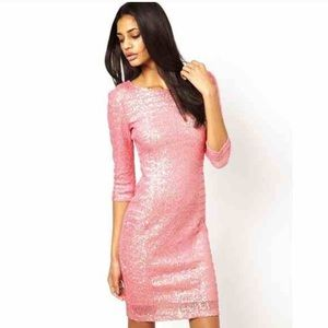 TFNC Pink Sequin Dress Brand New with Tags