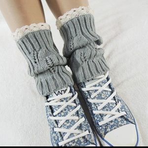 Light grey boot cuffs(NWT)PRICE FIRM