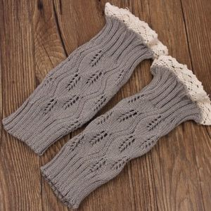 Accessories - Light grey boot cuffs(NWT)PRICE FIRM