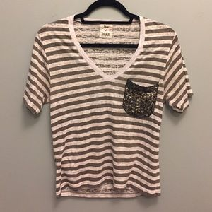 Son Of John V-neck Tee with Sequins