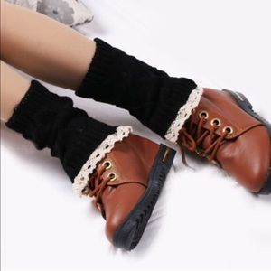 Black boot cuffs(NWT)PRICE FIRM
