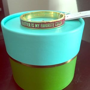"kate spade Jewelry - Kate Spade ""Glitter is my favorite color"" Bracelet"